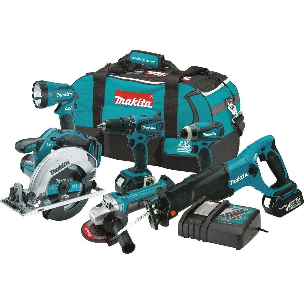 18-Volt LXT Lithium-Ion Cordless Combo Kit (6-Tool) with (2) 3.0 Ah