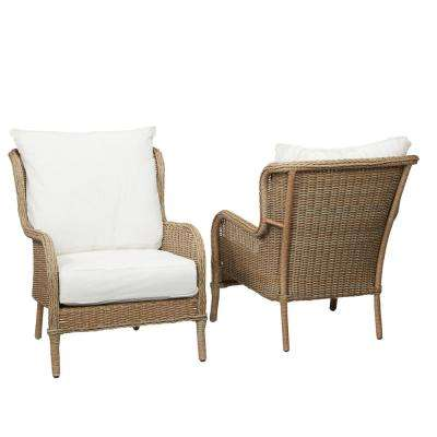 Lemon Grove Custom Wicker Outdoor Lounge Chair (2-Pack) with Cushions Included, Choose Your Own Color