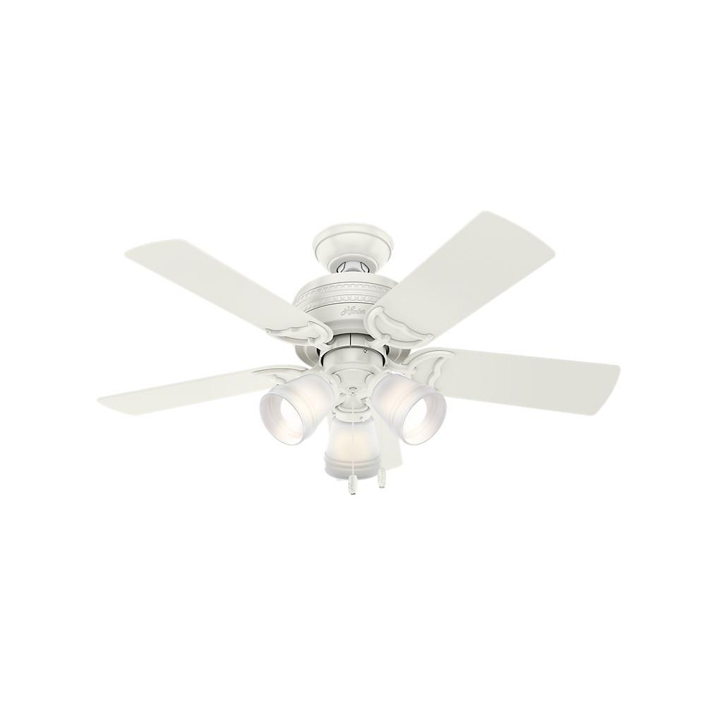 Vento Fiore 42 In White Retractable Ceiling Fan G 00029