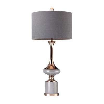 35 in. Gold Fluted Neck Lamp