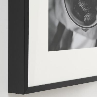 StyleWell Black Frame with White Matte Gallery Wall Picture Frames (Set of 7)