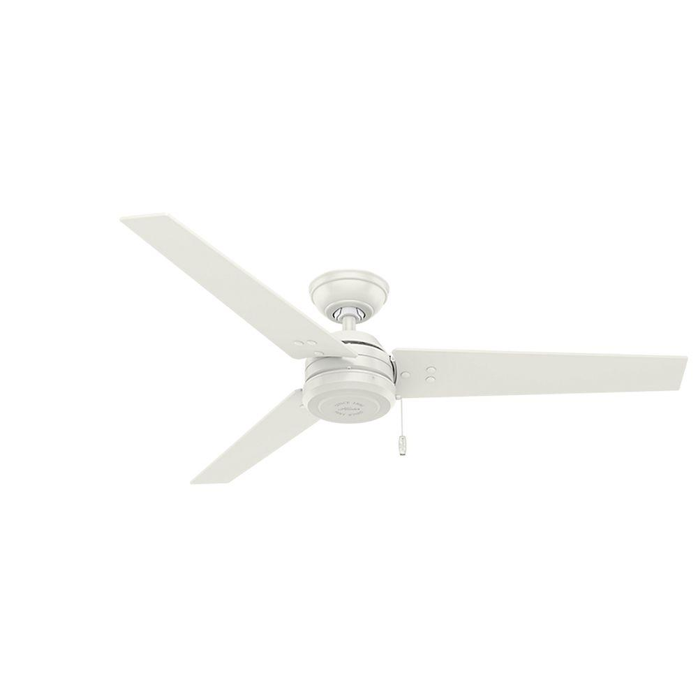 Indoor Outdoor Fresh White Ceiling Fan