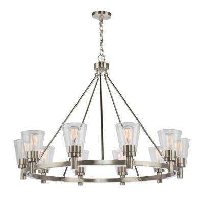 10-Light Brushed Nickel Chandelier