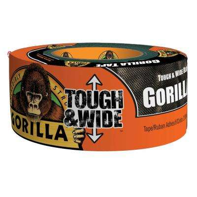 2.88 in. x 30 yd. Tough and Wide Black Tape (6-Pack)