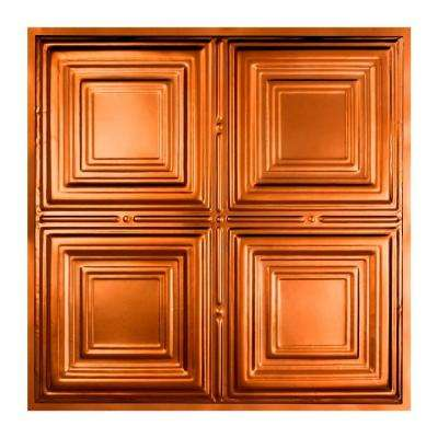 Syracuse 2 ft. x 2 ft. Lay-in Tin Ceiling Tile in Copper