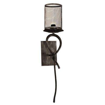 Desi 7.5-Watt Silk Black Integrated LED Wall Sconce