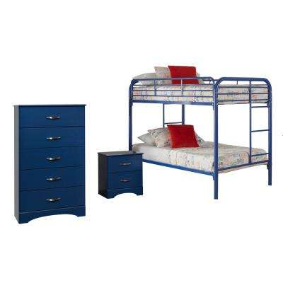 Royal Blue Collection 179K3T 3-Piece Royal BlueTwin Bedroom Set