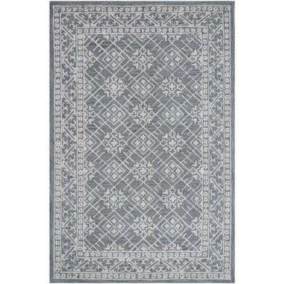 Filigree Blue 9 ft. x 13 ft. Indoor Area Rug
