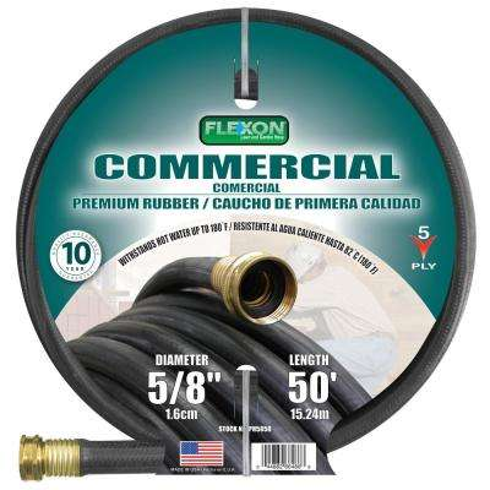 5/8 in. Dia x 50 ft. Premium Commercial-Grade Rubber Hose