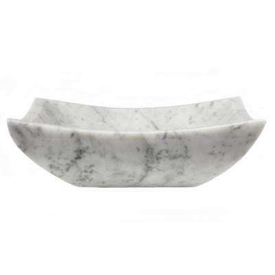 Square Deep Zen Sink in Carrara Marble