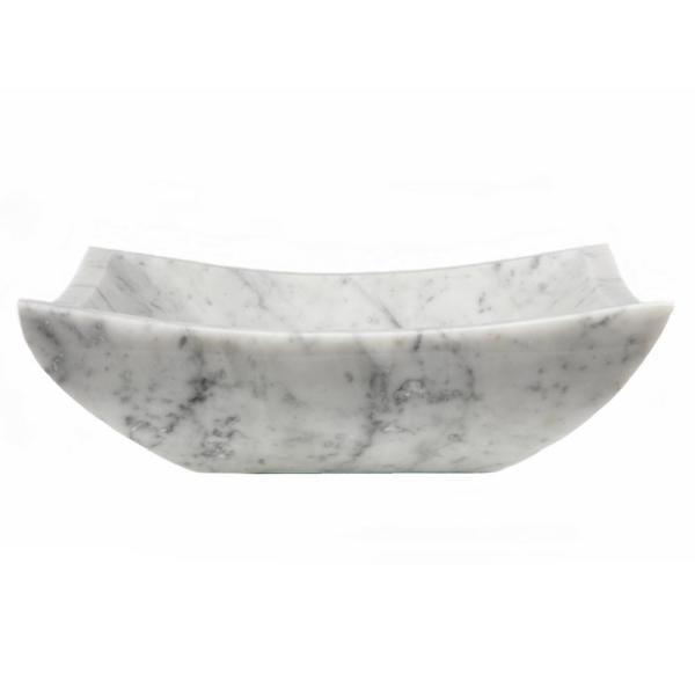 Square Deep Zen Sink in Carrara Marble