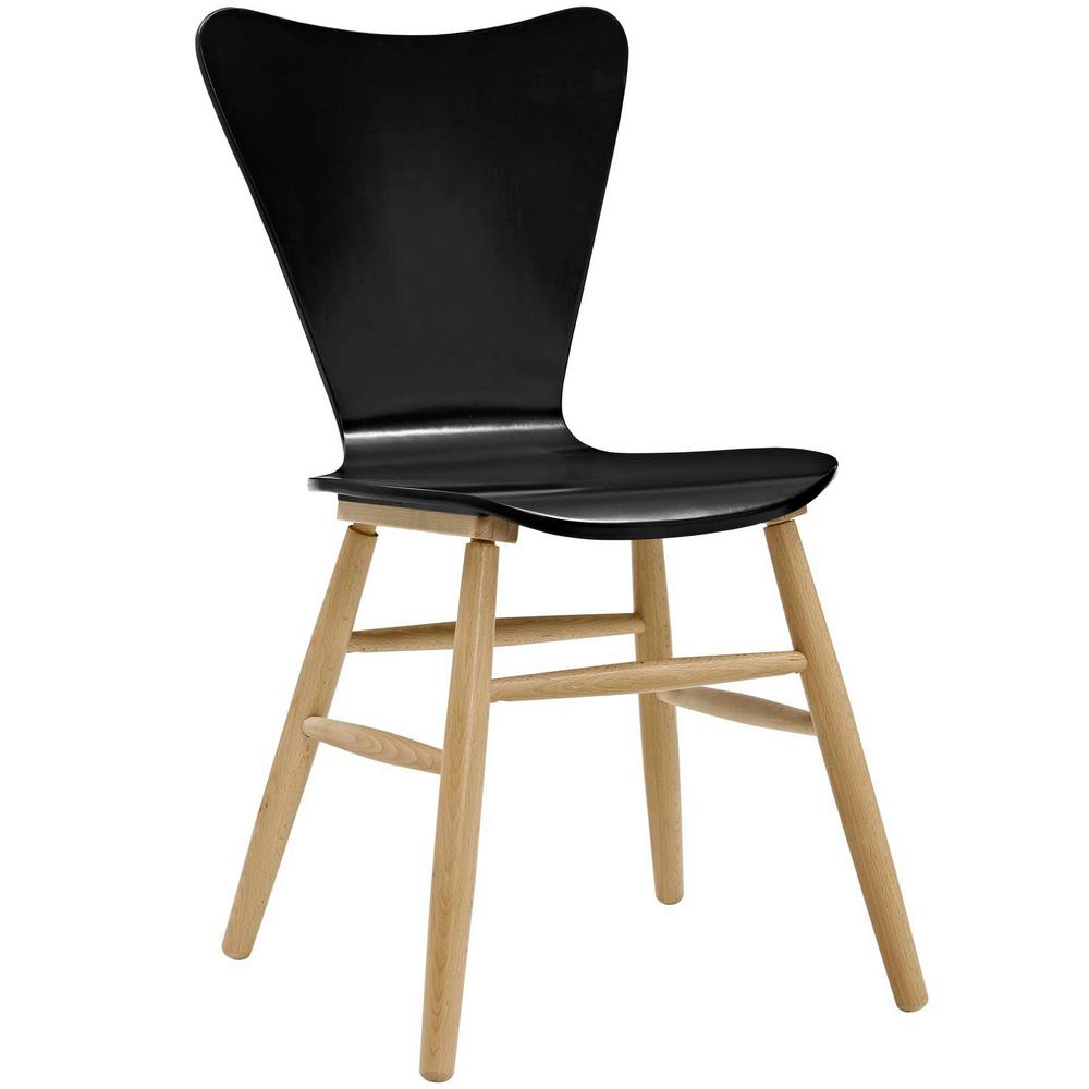 Cascade Black Wood Dining Chair