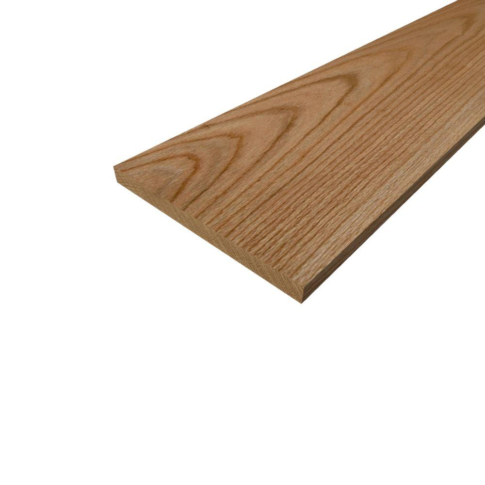 1 in  x 10 in  x 9 ft  S4S Red Oak Board-682113 - The Home Depot