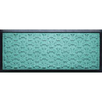 Aquamarine 15 in. x 36 in. x 1/2 in. Dog Treats Boot Tray