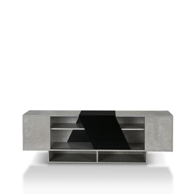 Hopsy 71 in. Cement-Like TV Stand Fits TVs Up to 80 in. with Storage