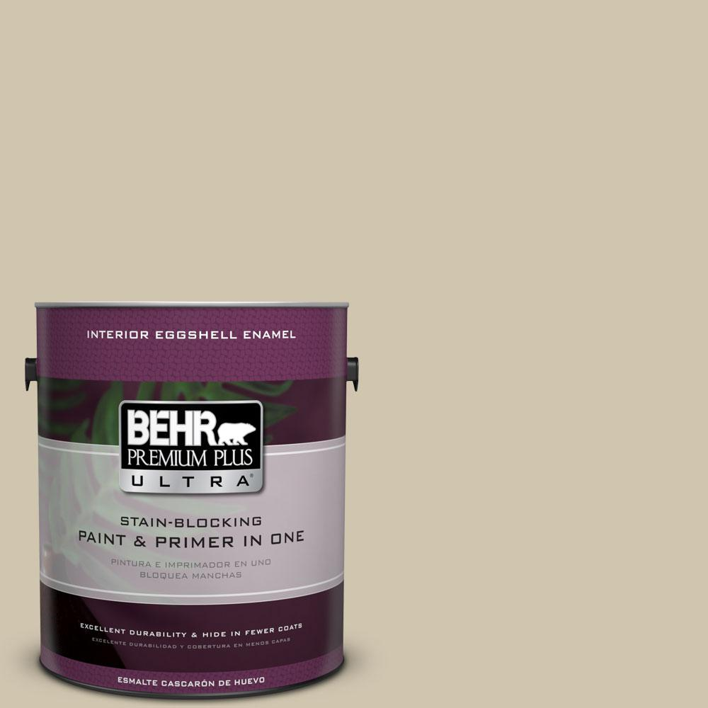BEHR Premium Plus Ultra Home Decorators Collection 1-gal. #HDC-NT-18 Yuma Sand Eggshell Enamel Interior Paint