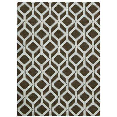 Enhance Chocolate Blue 5 ft. x 7 ft. Area Rug
