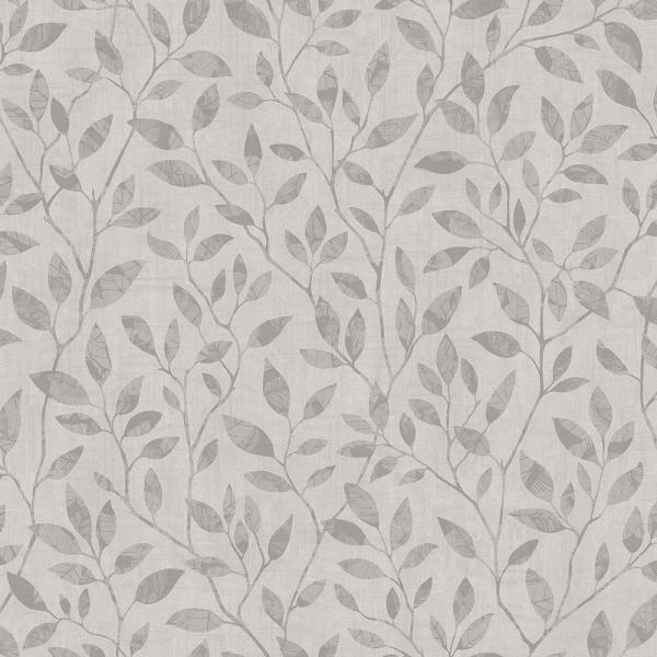 Engblad & Co 57.8 sq. ft. Willow Grey Silhouette Trail Wallpaper