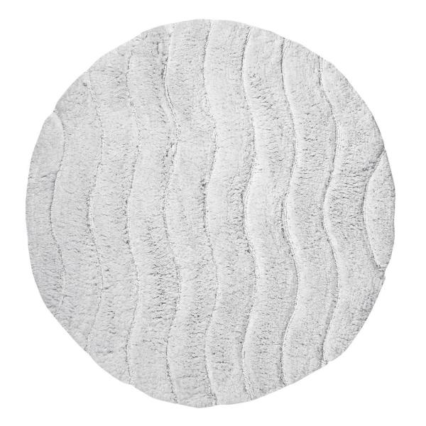 Indulgence White 30 In Round Bath Rug
