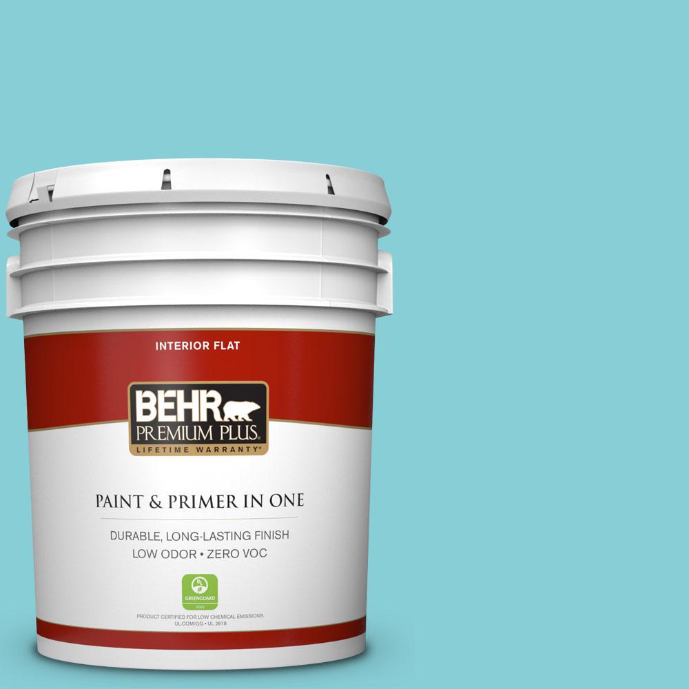 BEHR Premium Plus Home Decorators Collection 5-gal. #HDC-MD-14 Sky Watch Zero VOC Flat Interior Paint