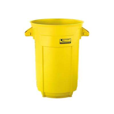 32 gal. Yellow Commercial Trash Can