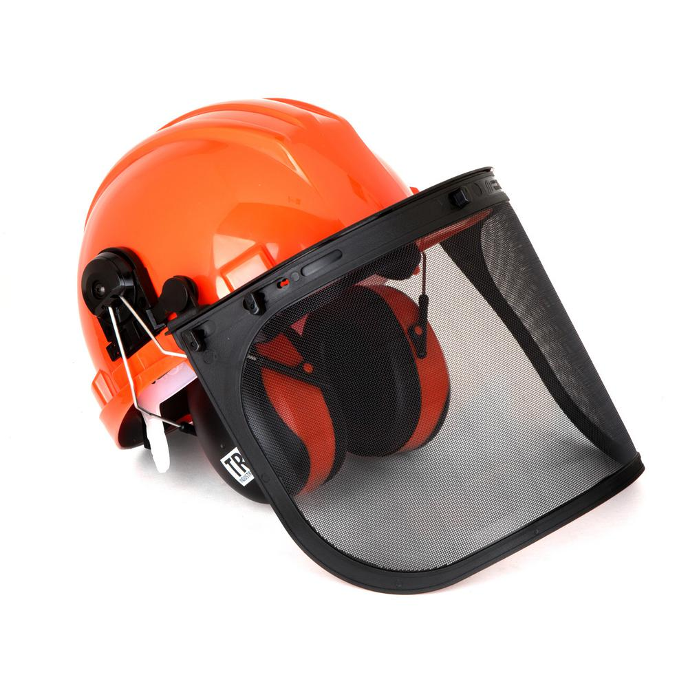 tr industrial forestry safety helmet and hearing protection the home depot