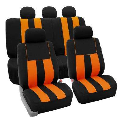 Modern Stripe Fabric 21 in. x 20 in. x 2 in. Full Set Seat Covers