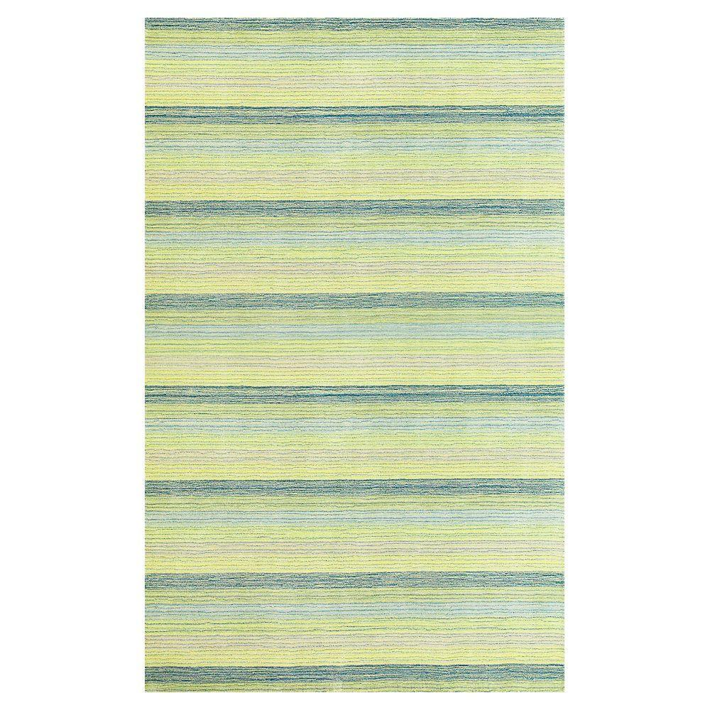 Kas Rugs Pinstripe Green 8 ft. x 10 ft. Area Rug-DISCONTINUED