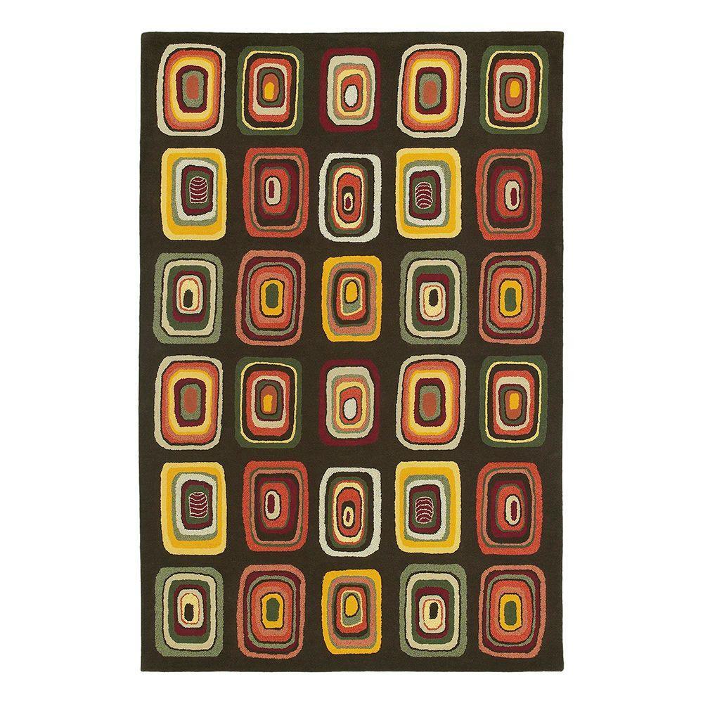 Kaleen Moods Kara Charcoal 5 ft. x 7 ft. 9 in. Area Rug