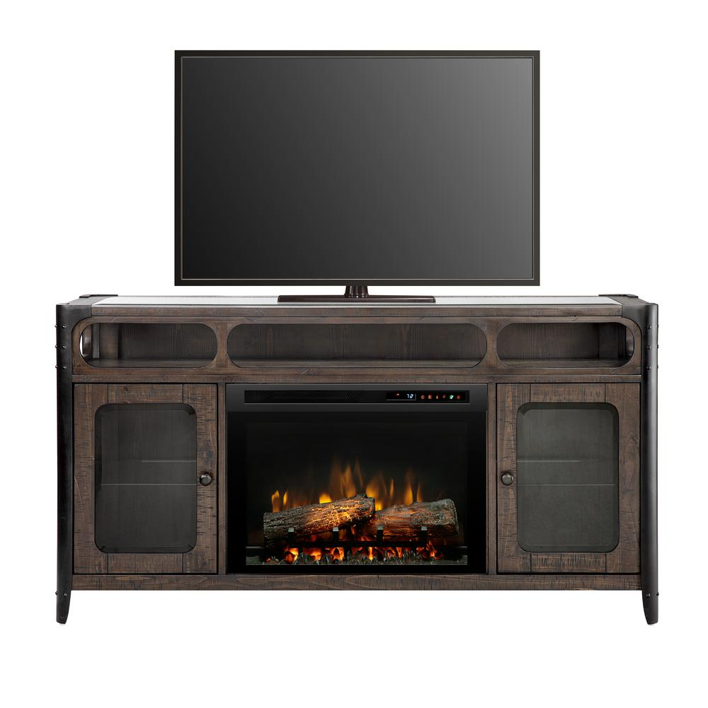 Dimplex Electric Fireplace Tv Stand Media Console Noir Brown
