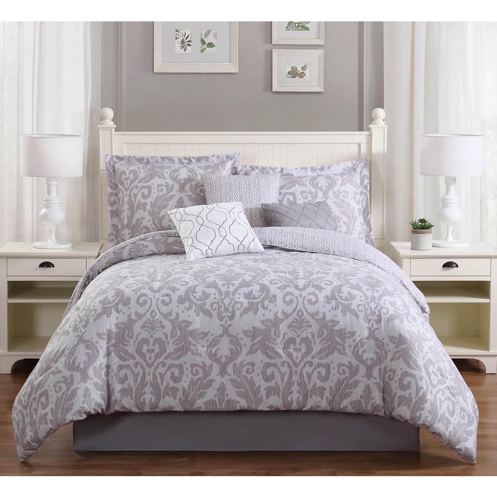 Studio 17 Welford Grey 7-Piece Full/Queen Comforter Set