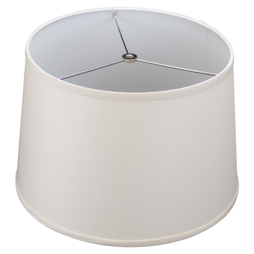 Fenchel Shades 13 in. Top Diameter x 15 in. Bottom Diameter x 10 in. Slant,  Empire Lamp Shade - Linen Ivory