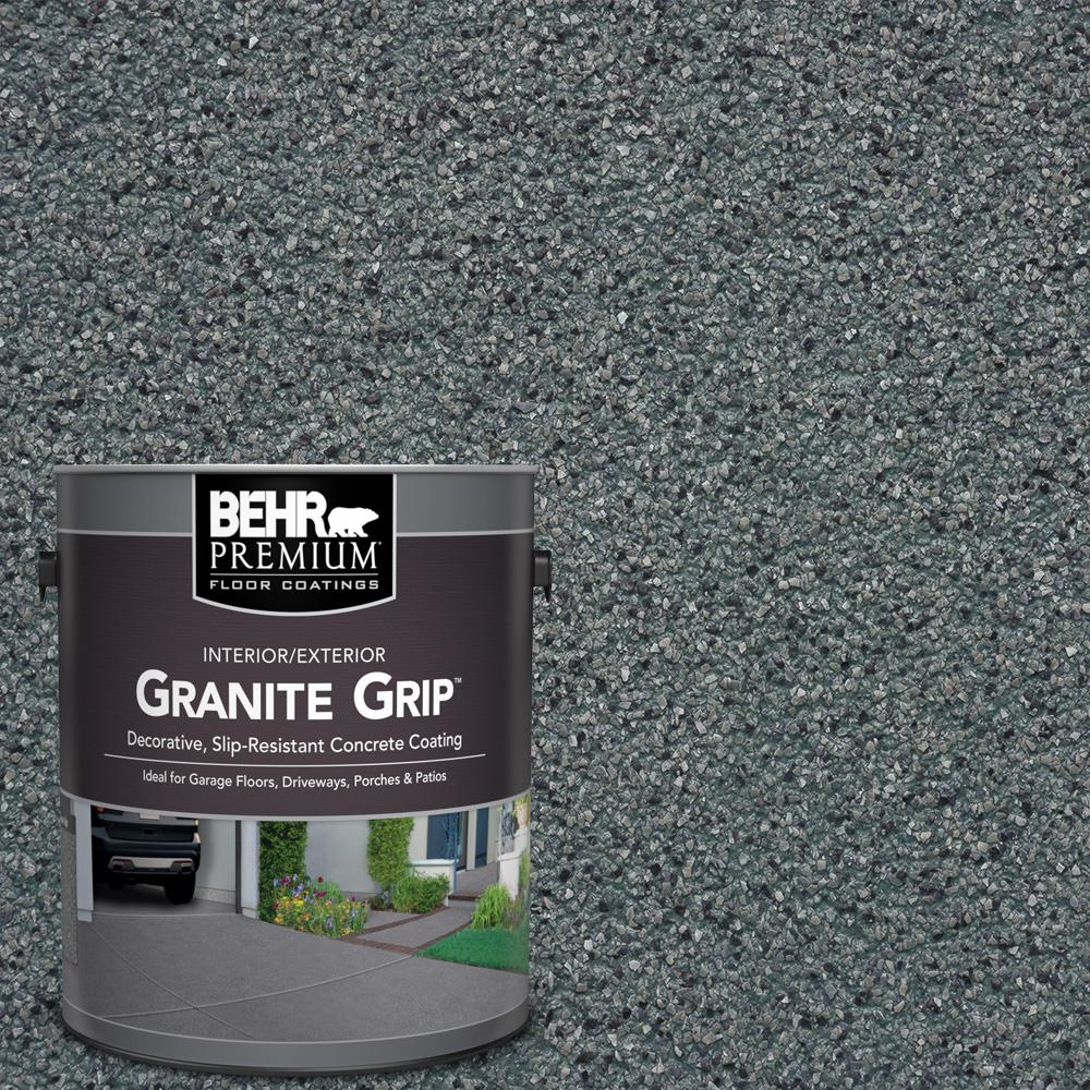 Behr premium 1 gal gg 01 slate ivory decorative concrete floor coating 65001 the home depot - Non slip exterior paint style ...