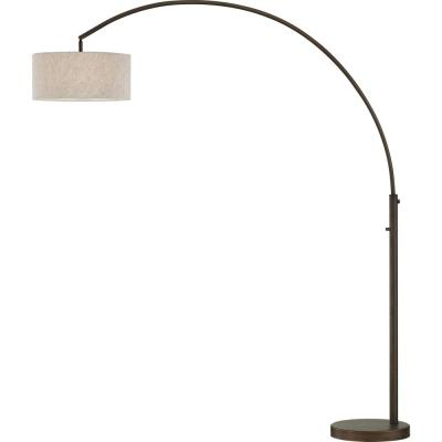 Elena 80 in. Antique Bronze LED Arch Floor Lamp with Dimmer