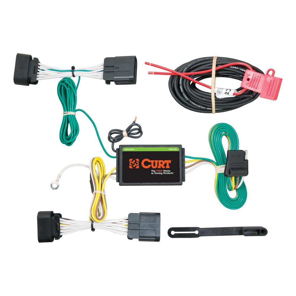 Surprising Curt Custom Wiring Harness 4 Way Flat Output 56253 The Home Depot Wiring Digital Resources Funapmognl