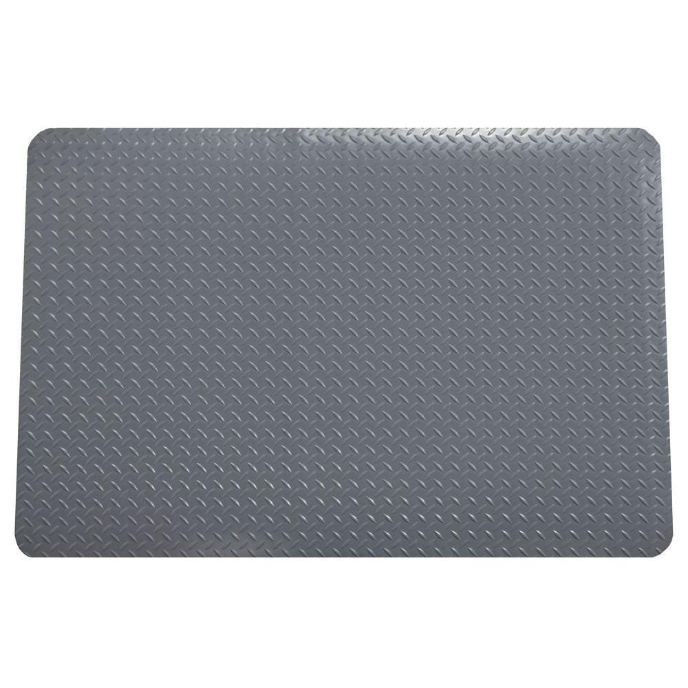 G-Floor Slate Grey 32 in. x 47 in. Polyvinyl/Neoprene Anti-Fatigue Mat