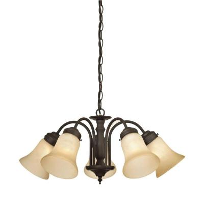 Trinity II 5-Light Oil Rubbed Bronze Chandelier