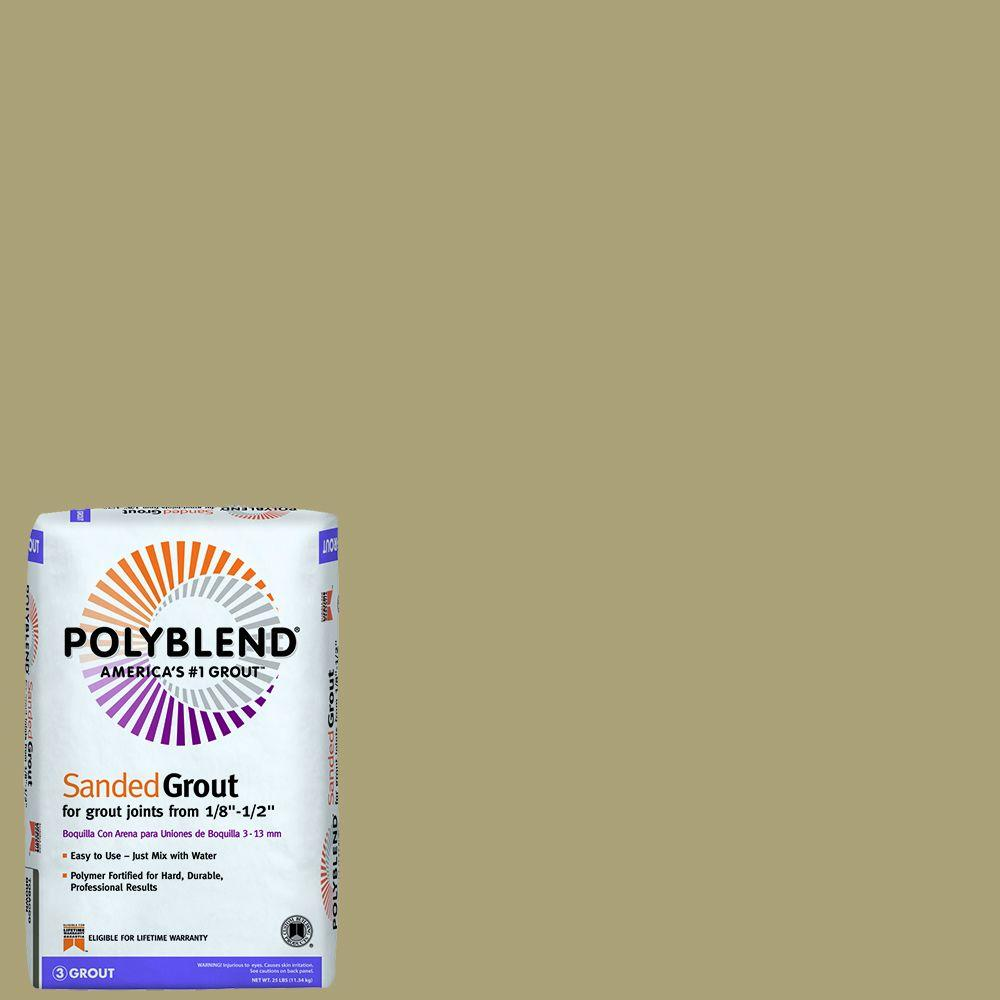 Custom Building Products Polyblend #186 Khaki 25 lb. Sanded Grout