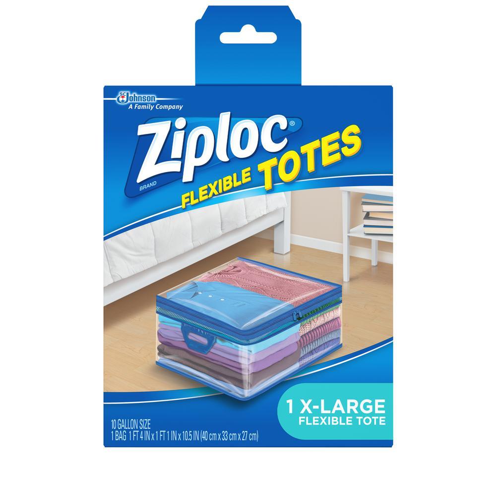 Ziploc 10 Gal. XL Flexible Storage Tote-696507 - The Home ...