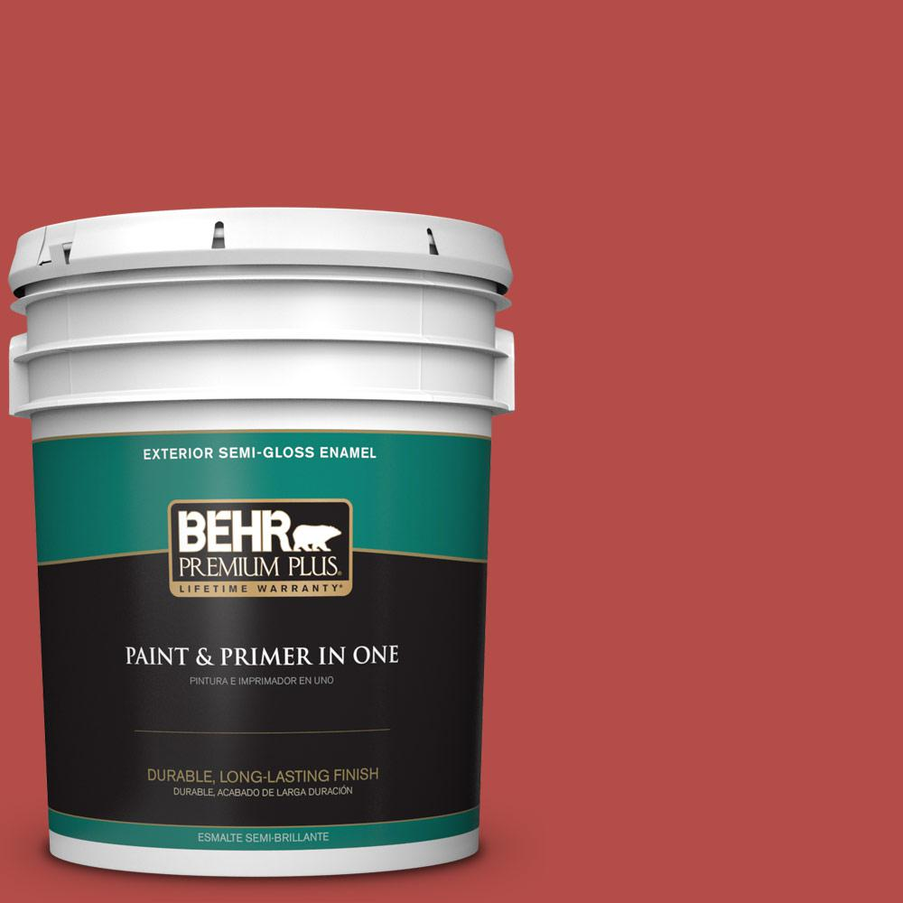 5 gal. #T17-18 Hot and Spicy Semi-Gloss Enamel Exterior Paint