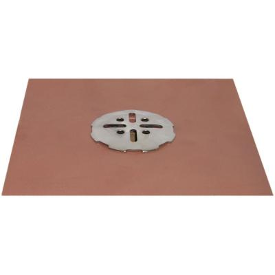 3 in. No-Hub Copper Deck Drain with Stainless Steel Snap-In Cover