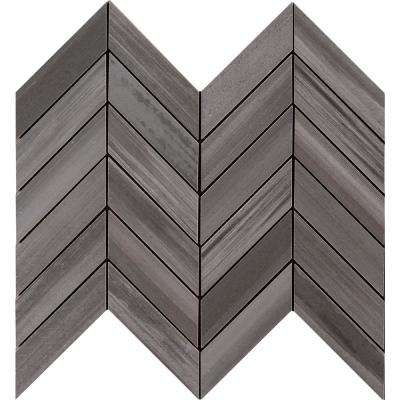 Water Color Graphite 12 in. x 15 in. x 10mm Glazed Porcelain Mesh-Mounted Mosaic Tile (5 sq. ft. / case)