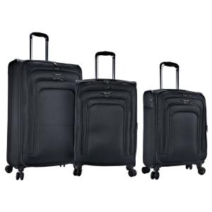 8c253511fa7f Elara 3-Piece Expandable Softside Vertical Rolling Luggage Set with 4  Dual-Blade Spinner