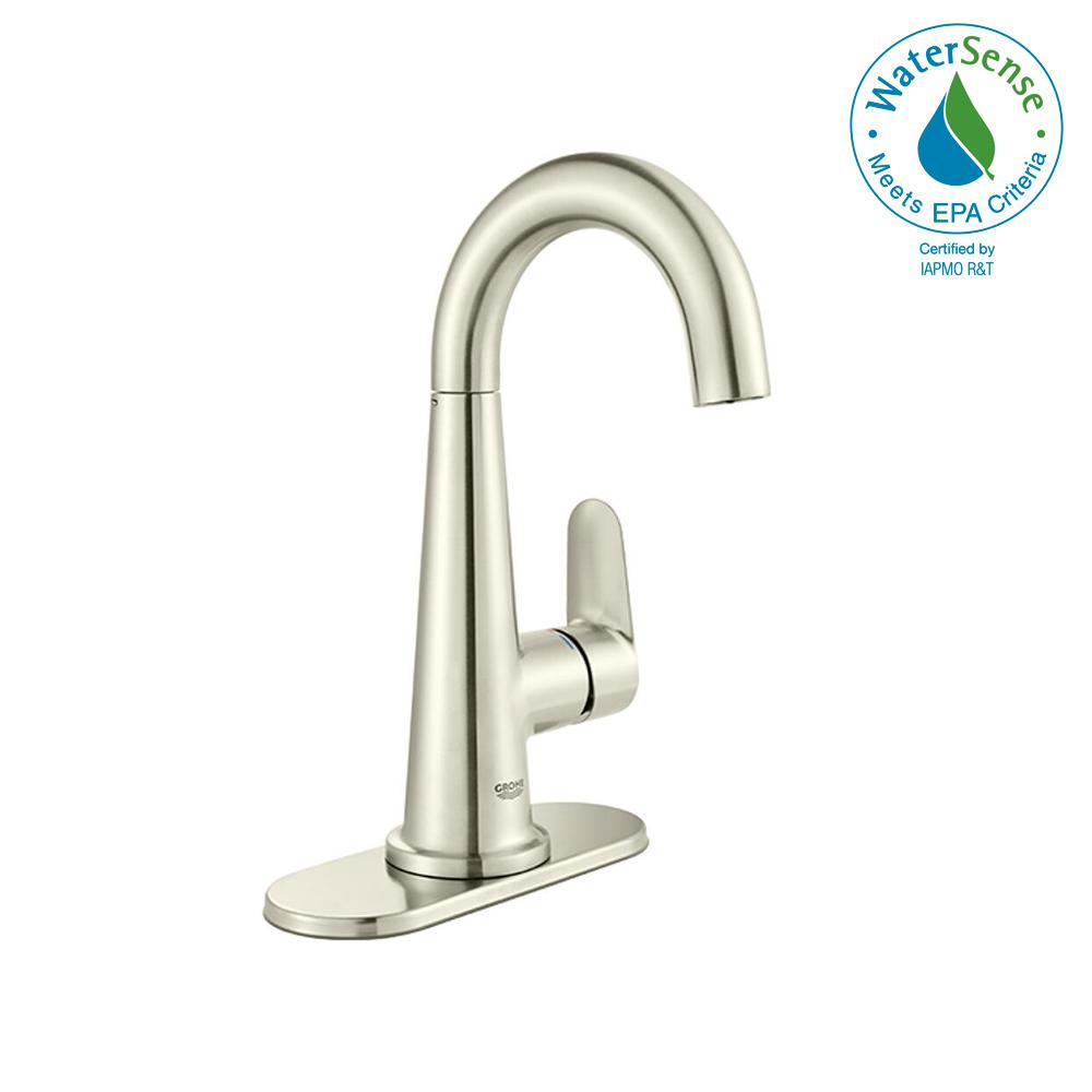 Veletto 4 in. Centerset Single-Handle Bathroom Faucet in Brushed Nickel