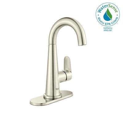 Centerset Single-Handle Bathroom Faucet in Brushed Nickel InfinityFinish
