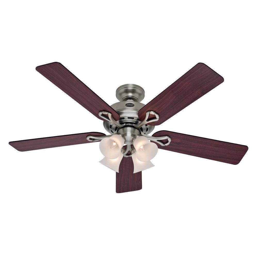 Augusta II 52 in. Indoor Antique Pewter Indoor Ceiling Fan with Light