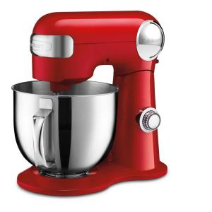 5.5 Qt. 12-Speed Red Stand Mixer with Mixing Paddle, Whisk and Dough Hook Attachments