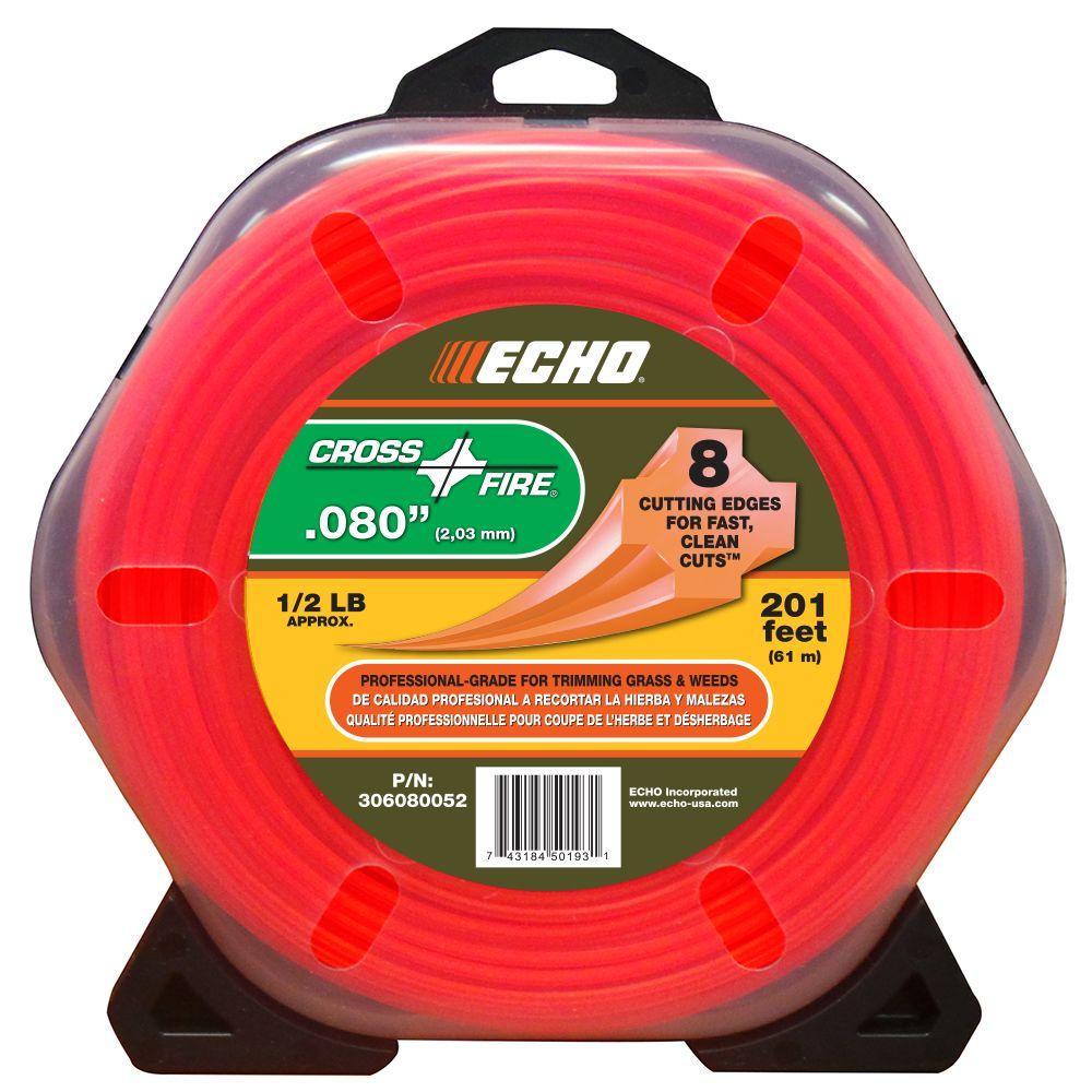 ECHO 1/2 lb. Donut 0.080 in. Cross-Fire Trimmer Line