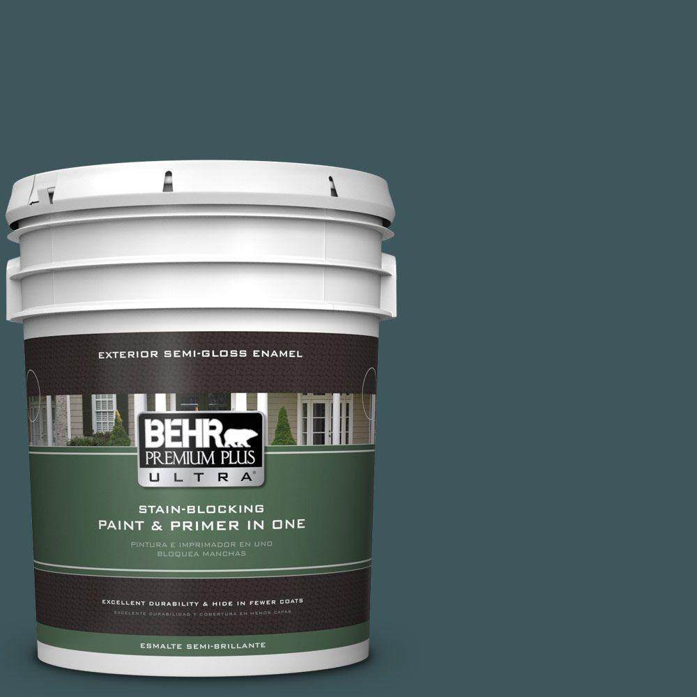 5-gal. #510F-7 Teal Forest Semi-Gloss Enamel Exterior Paint