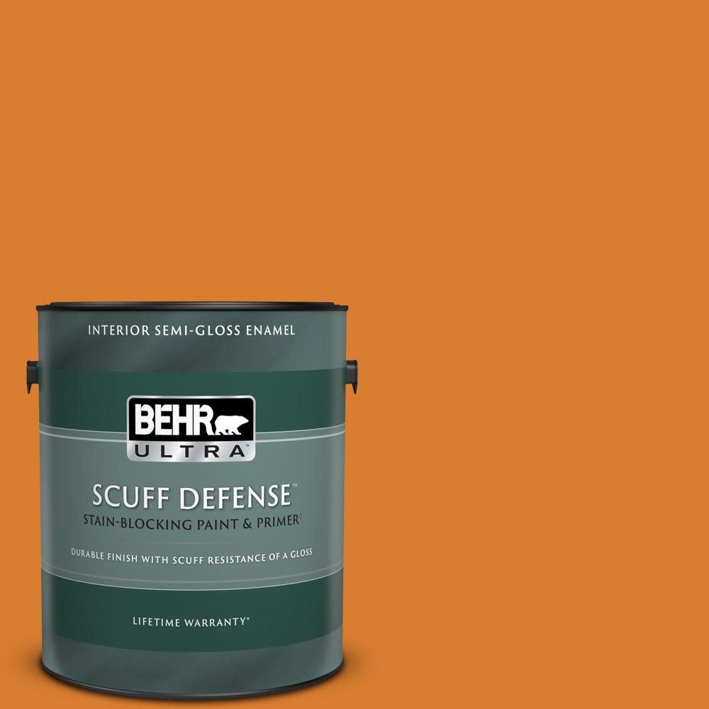 Reviews For Behr Ultra 1 Gal 270b 7 Bonfire Extra Durable Semi Gloss Enamel Interior Paint Primer 375301 The Home Depot